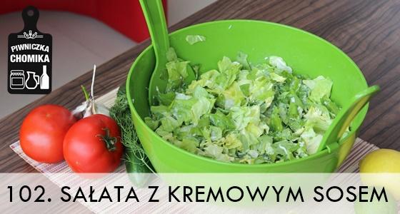 Zielona sałata do obiadu na słodko