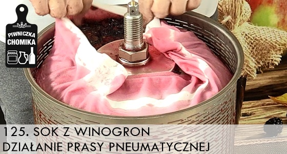 Sok z winogron z prasy pneumatycznej