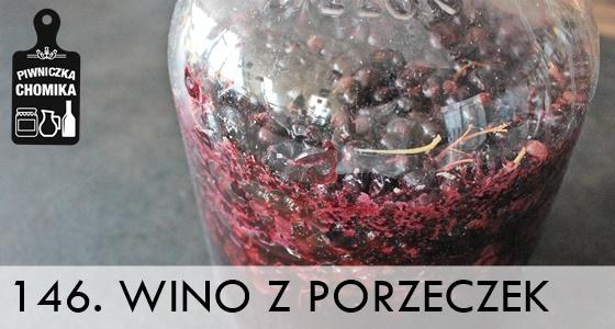 Wino z czarnej porzeczki w zestawie winiarskim