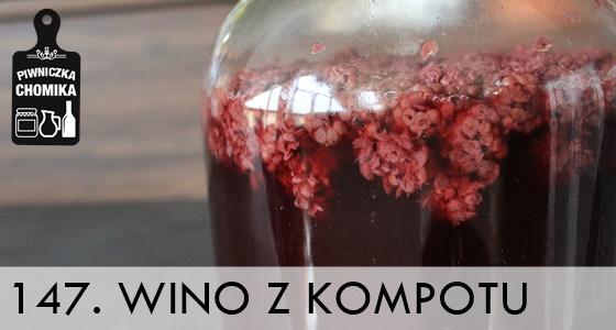 Wino z domowego kompotu w zestawie winiarskim