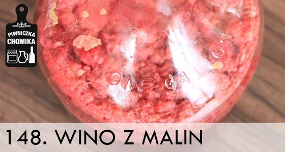 Wino z malin w zestawie winiarskim