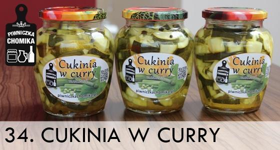 Cukinia w zalewie curry do słoików