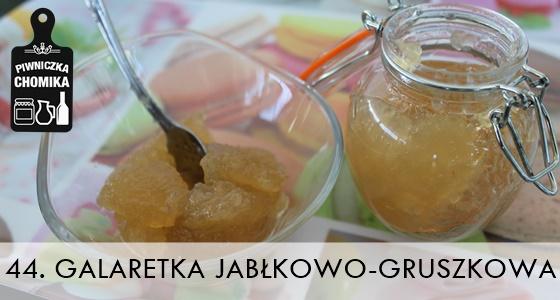 Konfitura jabłkowo-gruszkowa w formie galaretki