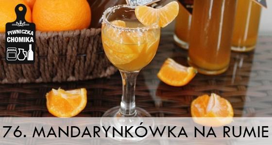 Nalewka z mandarynek na rumie