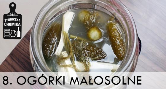 Tradycyjne ogórki małosolne z koprem i chrzanem