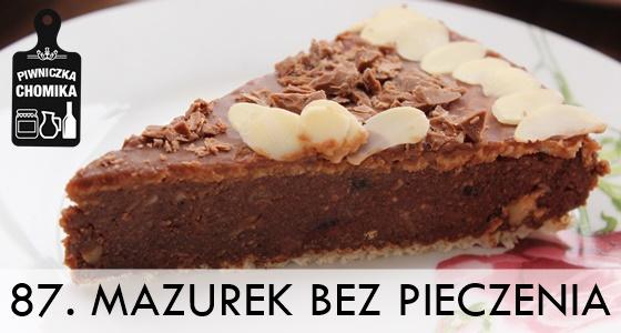 Mazurek bakaliowy z czekoladą bez pieczenia