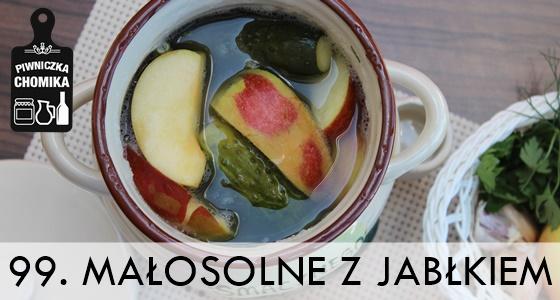 Ogórki małosolne z jabłkami